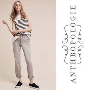 {Anthro} PILCRO Pants Hyphen Chinos Grey 29 TALL
